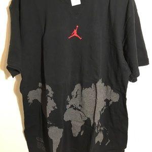 Air Jordan world tour shirt. Black color wave
